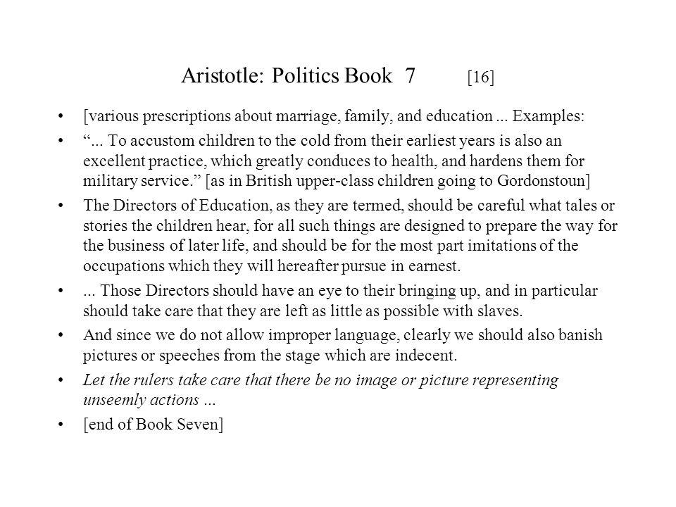 Aristotle: Politics Book 7 [16]
